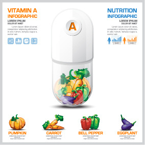 creative vitamin with infographic vector