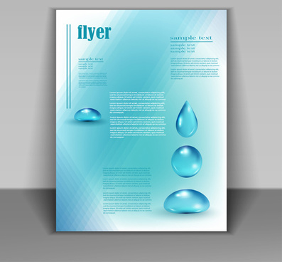 creative water flyer cover vector