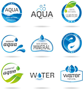 creative water logos design