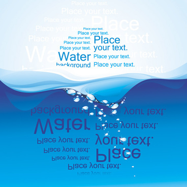 creative water wave background vector