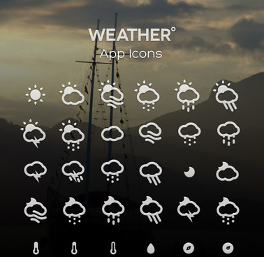 creative weather app icons