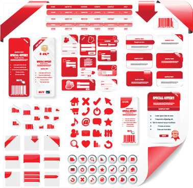 creative web design elements vector