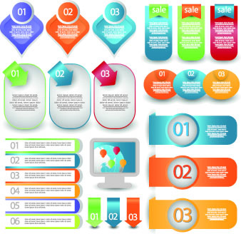 creative web labels design elements vector