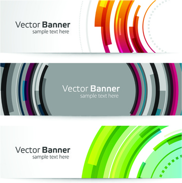 creative website headers banner vector set