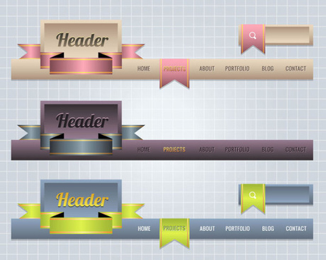 creative website navigation menu design vector