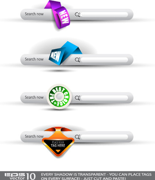 creative website navigation menu vector
