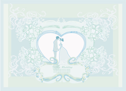 creative wedding backgrounds design vector