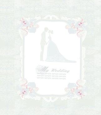 creative wedding backgrounds design vector