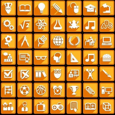 creative white social icons vector graphic