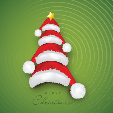 creative xmas tree background vector graphics