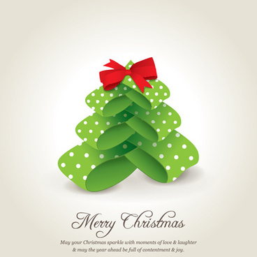 creative xmas tree christmas cards vector