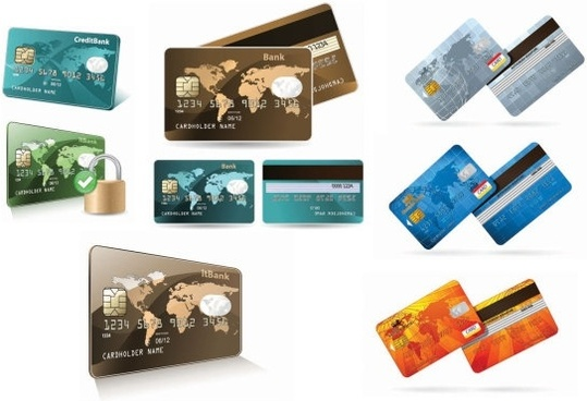 credit card bank card vector