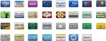 Credit Card icons icons pack