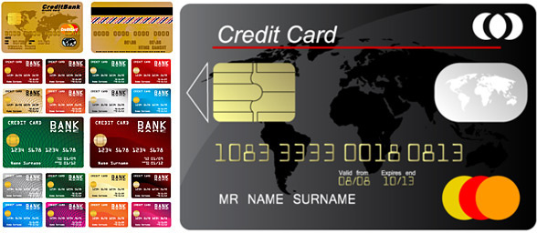 credit card template design vector