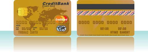 credit card vector template set