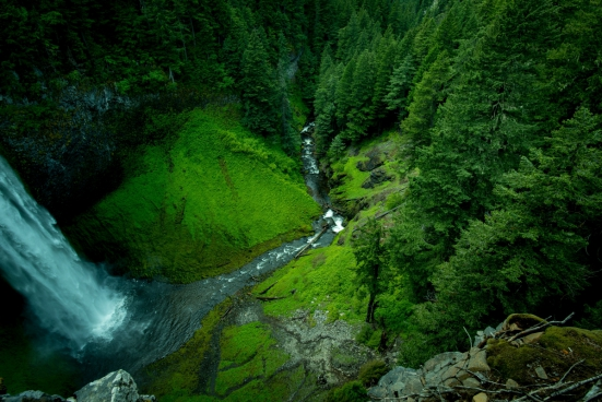 beautiful nature landscape with water fall