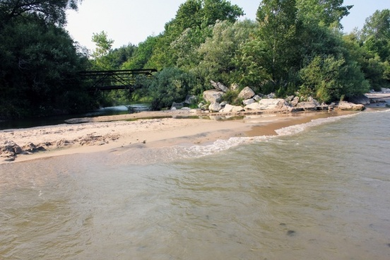 creek mouth at fischer creek wisconsin
