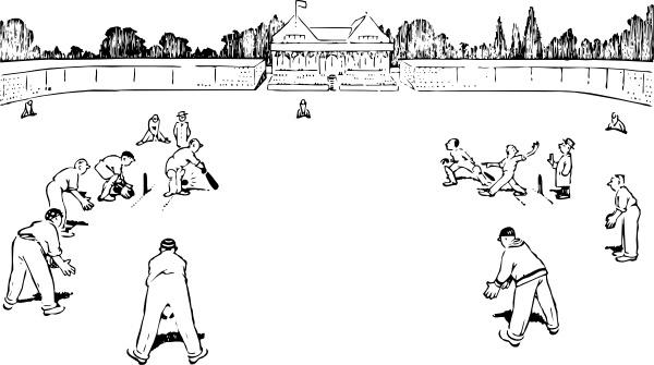 Cricket Game clip art