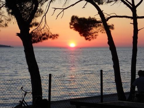 croatia sunset sea view