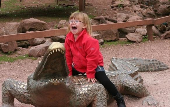 crocodile girl child