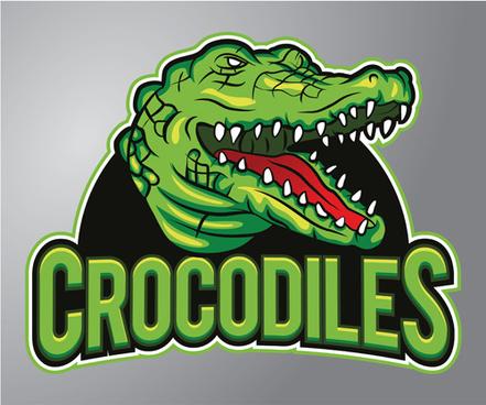 crocodiles logo vector
