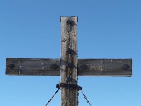 cross summit cross wooden cross