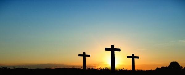 cross sunset sunrise