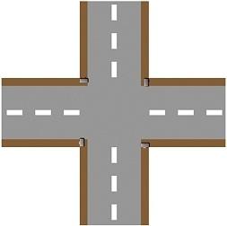 Crossroad plain