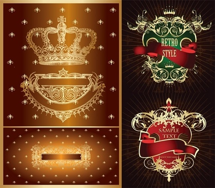 crown european pattern vector nonoriginal works