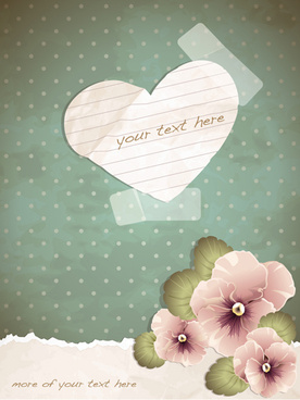 crumpled paper heart background