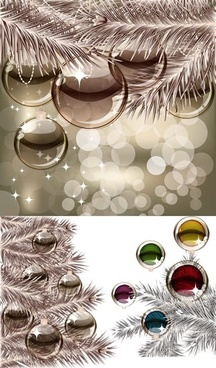 christmas backgrounds sparkling shiny bokeh baubles decor