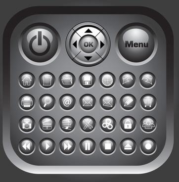 crystal circular icon vector