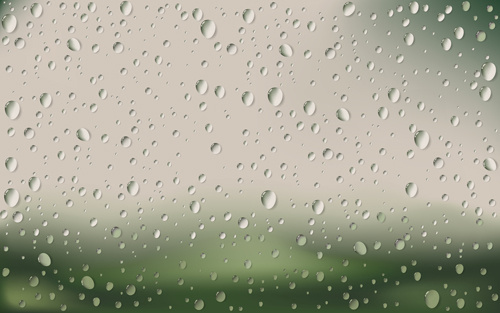 crystal clear raindrop vector background