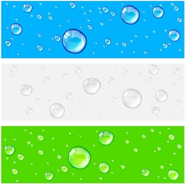 crystal clear water drops 01 vector