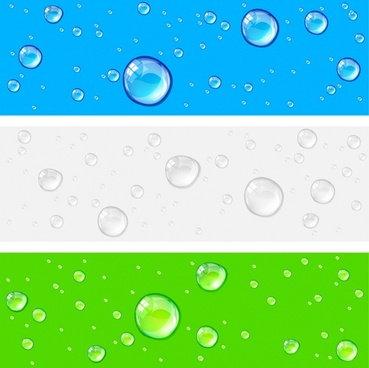 crystal clear water drops vector