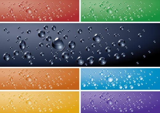 crystal clear water drops water drops vector