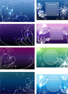 crystal decorative pattern background art vector