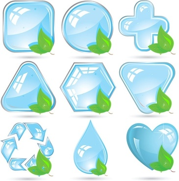 crystal green icon vector