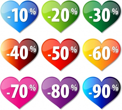 crystal heartshaped discount icon vector