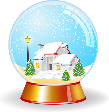 crystal magic globe with house unde snow