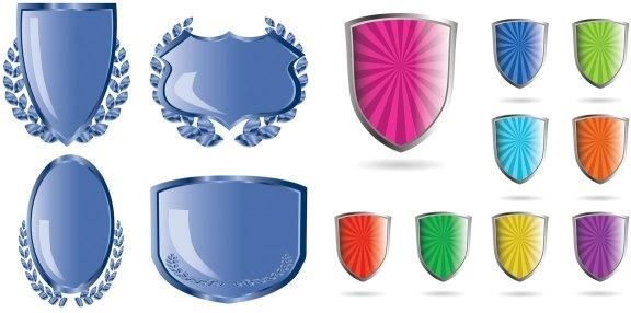 crystal shield style vector
