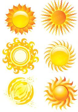 crystal style sun icon vector