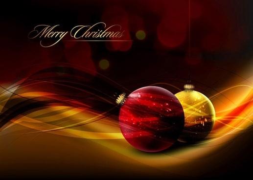 crystal style vector 4 christmas ball hanging