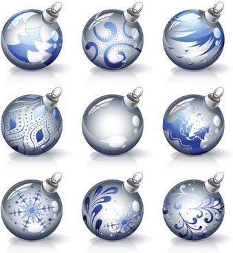 crystal texture of the christmas ball vector