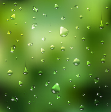 crystal water drops with blurred background art