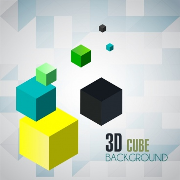 cube background colorful 3d decoration
