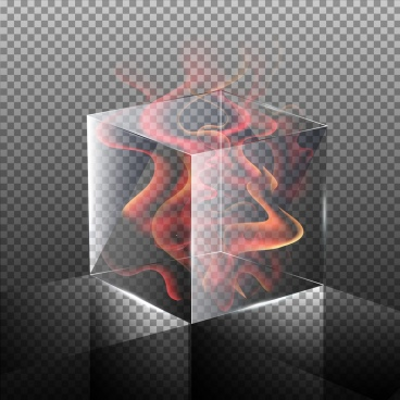 cube background flame icon 3d design checkered decoration