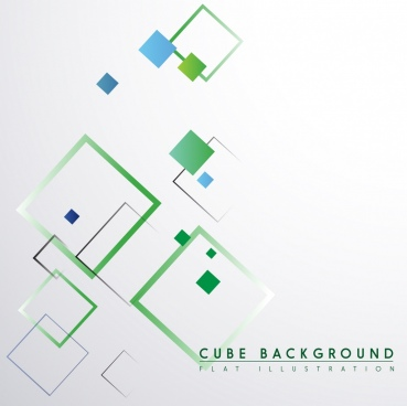 cube background flat squares sketch