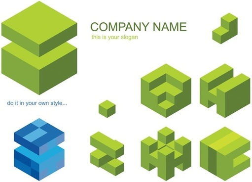 cube logo vector graphic