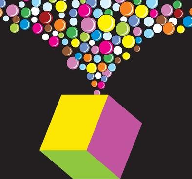 cube pop vector